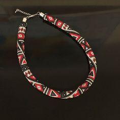 🛡beaded crochet rope necklace with lobster clasp $28 #handmade #delica #seedbeads #beadwork #bracelet #necklace #earrings #choker #pendant #miyuki #etsy #etsyseller #peyote #peyotebracelet #brickstitch