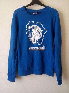 Kappa Jumper Fleece Sweater Jumper African Soul Lion Head Crew Neck Size L