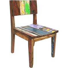@Overstock - The perfect blend of minimalist and decorative, this chair from Ecologica Furniture matches a rugged finish with contemporary hues. Constructed of reclaimed wood, this chair features a slightly curved seat.http://www.overstock.com/Main-Street-Revolution/Ecologica-Furniture-Reclaimed-Wood-Dining-Desk-Chair/6532006/product.html?CID=214117 $229.99
