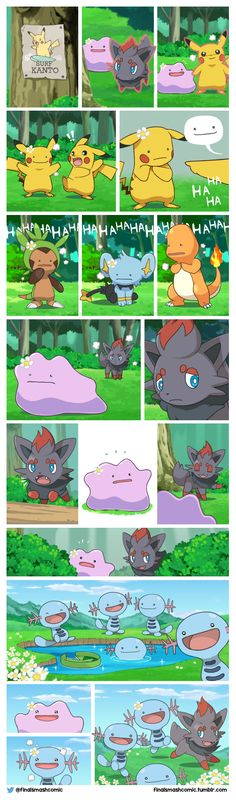 The tale of Zorua and Ditto! (OC comic) i.it/… The tale of Zorua and Ditto! (OC comic) i. Pokemon Comics, Pokemon Funny, Pokemon Memes, Pokemon Ditto, Pokemon Stuff, Latios Pokemon, Wooper Pokemon, Pokemon Oc, Nintendo Pokemon