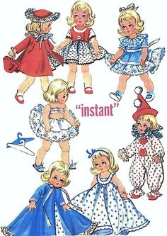 "Vintage Doll Clothes Pattern 2150 ~ 8"" or 10"" ~ Ginny - Ann Estelle"