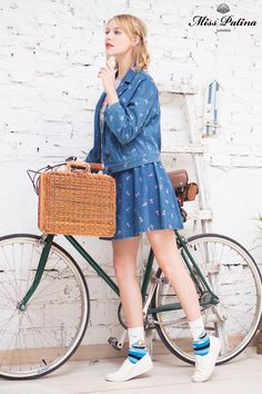 Miss Patina Denim Jacket and skirt