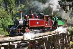 Puffing Billy Railway - 7A. The Puffing Billy Railway is a narrow gauge 2 ft 6 in (762 mm) gauge heritage railway in the Dandenong Ranges near Melbourne, Australia.