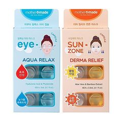 Eye Skin Care mothermade AntiWrinkle Eye Mask  Deep Soothing SunZone Mask  AquaRelax Eye Capsule  Derma Relief SunZone Mask SET 6 patches x 2 pack 12 use Greatly Firming  Instantly Cooling Soothing ** Check this awesome product by going to the link at the image.