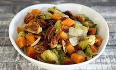 Roasted Brussels Sprouts With Butternut Squash and Cranberries