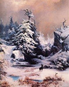 Hiver dans les Rocheuses - (Thomas Moran)
