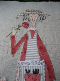 Really great applique embroidery combo Machine Applique, Felt Applique, Applique Quilts, Embroidery Applique, Machine Embroidery, Quilting Projects, Quilting Designs, Sewing Projects, Cute Quilts