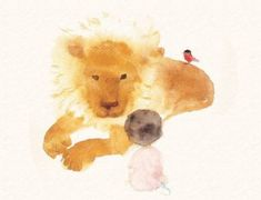 Chihiro Iwasaki, a Japanese Illustrator Known for Drawing Happiness of Children and Peace / Tokyo Pic Art And Illustration, Graphics Fairy, Watercolor Animals, Watercolor Paintings, Watercolor Lion, Norman Rockwell, Picture Letters, Baby Art, Japanese Artists