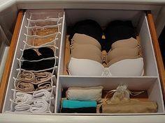 Como organizar e dobrar calcinhas, meias, cuecas