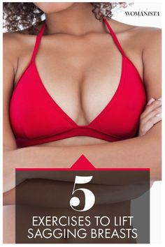 "Can you perk those up without a ""procedure""? Turns out there are some fabulous, proactive exercises you can do to tighten up that chest. Check out our favorite ""boob exercises"". Womanista.com"