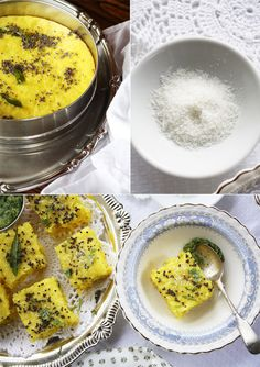 savory indian lentil cake - http://www.cookrepublic.com/recipe-archive/traditional-rawa-khaman-dhokla-steamed-savoury-indian-lentil-cake/?utm_source=feedburner&utm_medium=feed&utm_campaign=Feed%3A+cookrepublic+%28Cook+Republic%29