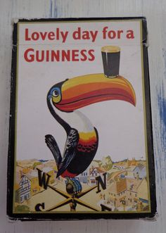 Vintage Guinness Playing Cards By Carta Mundi, Lovely Day For A Guinness, Official Merchandise Guinness Advertising Playing Cards,