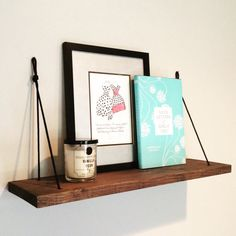 This listing is for one (1) minimalist rope shelf. Easy home refresh with our hanging Rope Shelf... Lovely for hanging small kitchen plants (such as succulents or herbs). Place it in your foyer to shelf keys or hold mail. You can even use it in your bedroom or home office to display your favorite books and framed prints. Each shelf is made-to-order and handmade from a large piece of solid pine. After being carefully selected from the large pine wood, it is cut, stained in Sherwin Williams…
