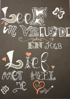 Gemaakt tijdens een workshop handletteren in Velsen Handlettering-enzo Workshop, Paper Board, Atelier, Work Shop Garage