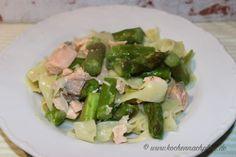 kochennachplan.de ... heute gibt es Spargel mit Nudeln in einer Lachs- Zitronensauce..... sehr lecker :) Potato Salad, Potatoes, Ethnic Recipes, Food, Asparagus, Cooking, Potato, Essen, Meals