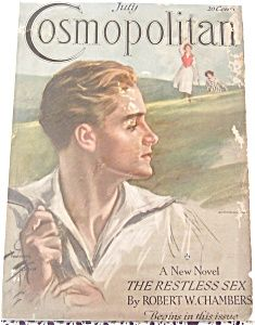 Harrison Fisher cosmo cover from the 1910's