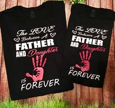 Between Father and Son Diy Father's Day Shirts, Dad To Be Shirts, Family Shirts, Kids Shirts, Father Daughter T Shirts, Mom And Daughter Matching, Matching Shirts, Matching Outfits, Personalized T Shirts