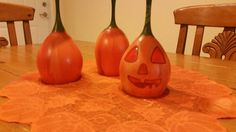Come check out my pumpkin wine glass holders each are custom painted to order.  https://www.etsy.com/listing/249121647/tipsy-pumpkin-patch