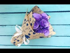 ABC TV | How To Make Paper Rose Bouquet Flower From Color Paper - Craft Tutorial - YouTube