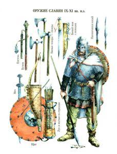 Slavic warriors weapons