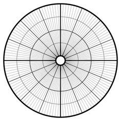 Polar Graph Paper  Rays  Segmenty    Graph Paper