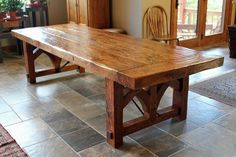 Pedestal for pool table: Custom Farmhouse Dining Table by Sentinel Tree Woodworks | CustomMade.com