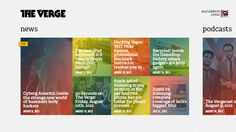 The Verge for Windows 8 by Conner Monsees, via Behance