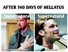 FINALLY HELLATUS IT'S OVER. ALL NEW #Supernatural TONIGHT <3