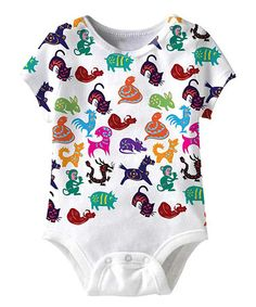 Another great find on #zulily! White Chinese Zodiac Sublimation Bodysuit - Infant #zulilyfinds