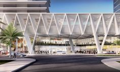 SOM presents plans for a multimodal transport hub in miami