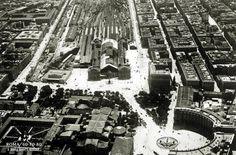 Panorama piazza esedra e stazione termini 1929