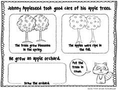 Johnny Appleseed and Fun with Apples. $ Johnny Appleseed and apple themed literacy activities and centers.