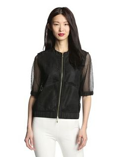 67% OFF Insight Women's Mesh Bomber Jacket (Black)