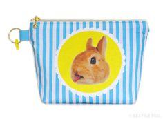 Orange Apollo's Flat Bottom Zipper Pouch for Bunny by OrangeApollo