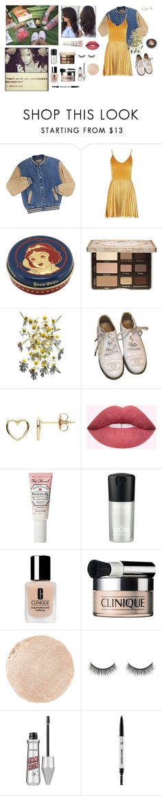 """""""💯 challenge #40.5// Picnic with my best friend"""" by circe-1emon ❤ liked on Polyvore featuring Boohoo, Too Faced Cosmetics, Chanel, Estella Bartlett, MAC Cosmetics, Clinique, Wander Beauty, Battington and It Cosmetics"""