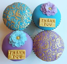 Thank you cupcakes Thank You Cupcakes, Wedding Cards, Sugar, Cookies, Desserts, Food, Wedding Ecards, Crack Crackers, Tailgate Desserts