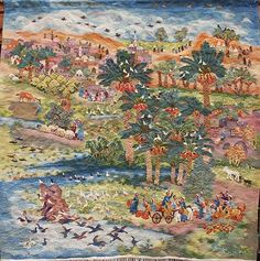 Recent Museum Acquisitions of Wissa Wassef Art Centre Tapestries Tapestry Weaving, Fabric Art, Tapestries, Art Forms, Textile Art, Needlepoint, Mythology, Folk Art, Architecture Design