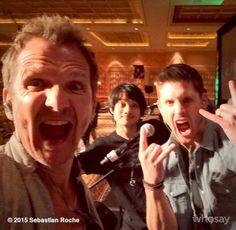 Jensen with Sebastian and Osric at #VegasCon