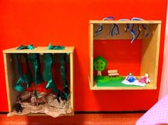 Our wall mounted small world boxes, allowing children to get engrossed in their own little world... EYFS