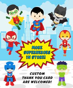 Superhero Birthday Invitation Superhero Boy por KidzParty en Etsy