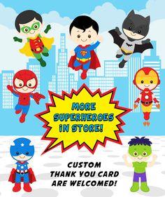 Superhero Birthday Invitation Superhero Boy por KidzParty en Etsy