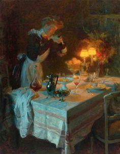 Jules-Alexandre Grün, 1868-1938, French post-impressionist painter, Effet De Lumiere