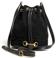 Gucci Horse Bit Suede Duffel Bag