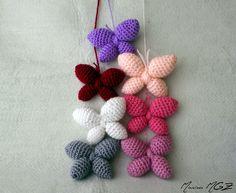 Zita and Furball: Butterflies Crochet Bee, Crochet Butterfly, Crochet Birds, Love Crochet, Crochet Motif, Crochet Animals, Beautiful Crochet, Easy Crochet, Crochet Flowers
