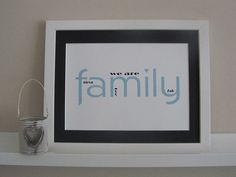 Personalised we are family print. Birthday by AlwaysSparkleArt