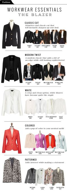 Fashion File: Workwear essentials - The Blazer - The Vault Files: