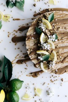 Raw Lemon & Caramel Cheesecake with Buckini Base  |  Gather & Feast