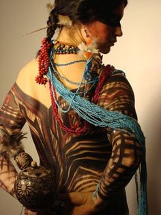 Pintura Corporal Indígena - Educação Artística | Diario AG