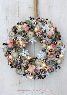 DIY Wreaths for the Holidays that Won't Cost you a Cent. Christmas Advent Wreath, Christmas Door, Pink Christmas, Christmas Time, Christmas Crafts, Merry Christmas, Christmas Makes, All Things Christmas, 242
