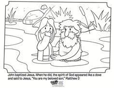 Jesus is Baptized - Bible Coloring Pages | What's in the Bible?